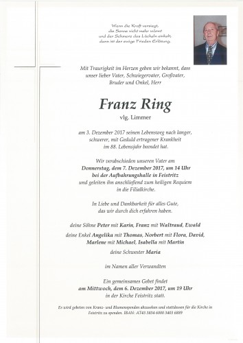 Franz Ring     vlg. Limmer