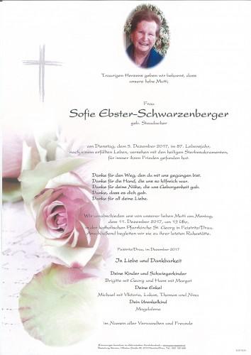 Sofie Ebster, geb. Staudacher