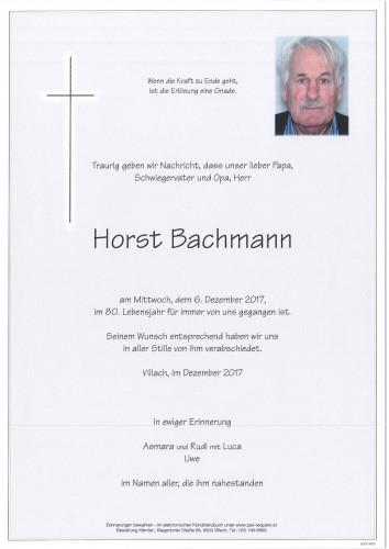 Horst Bachmann
