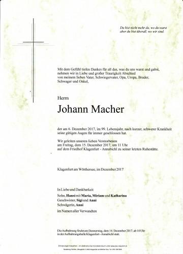 Johann Macher