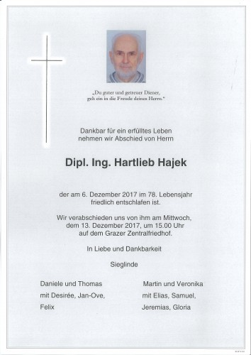 Dipl.Ing. Hartlieb Hajek