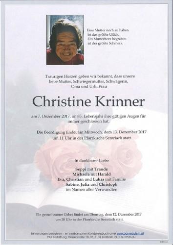 Christine  Krinner
