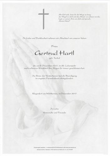 Gertrud Hartl, geb. Terbul