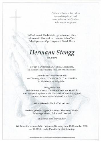 Hermann Stengg, vlg. Fuchs
