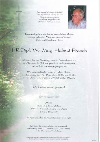 HR Dipl. Vw. Mag. Helmut Presch