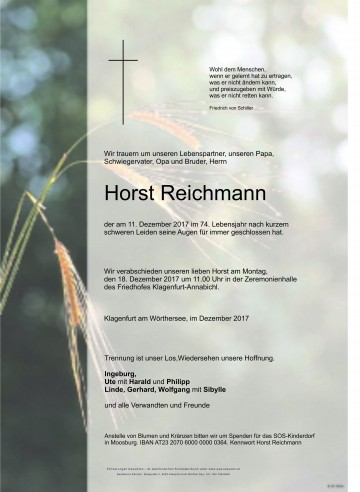 Horst Reichmann