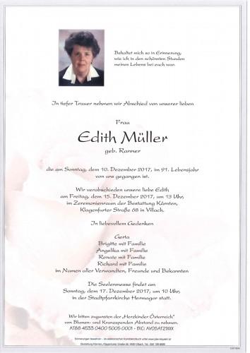 Edith Müller geb. Ranner