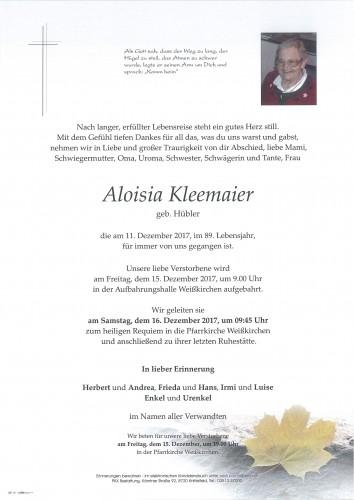 Aloisia Kleemaier