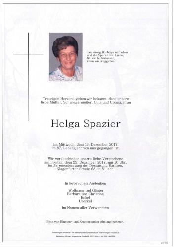 Helga Spazier geb. Petutschnigg