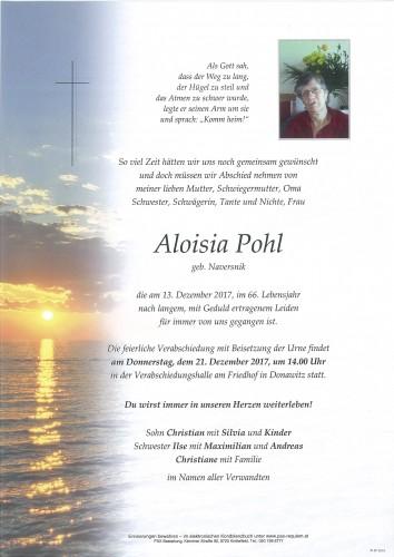 Aloisia Pohl