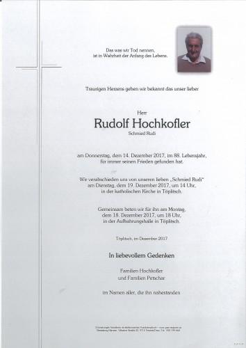 Rudolf Hochkofler, Schmied Rudi