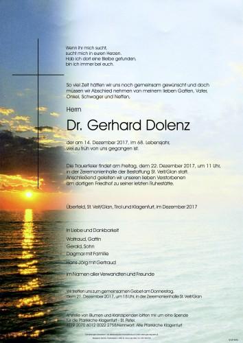 Dr. Gerhard Dolenz