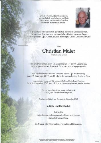 Christian Maier, Weißenbacher Christl
