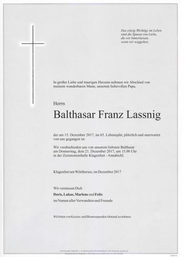 Balthasar Franz Lassnig