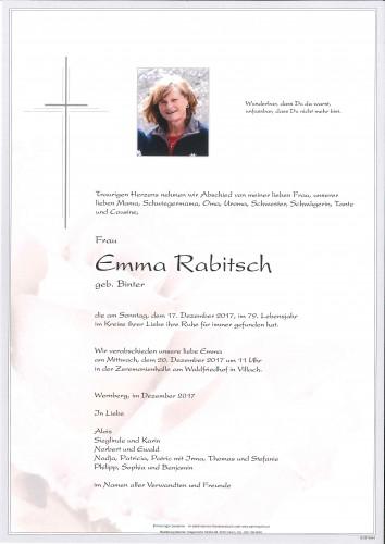 Emma Rabitsch, geb. Binter