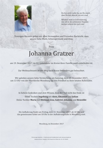 Johanna Gratzer
