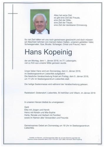 Hans Kopeinig