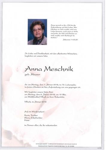 Anna Meschnik geb. Maurer