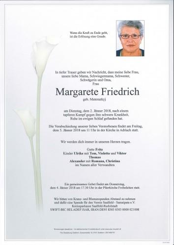 Margarete Friedrich