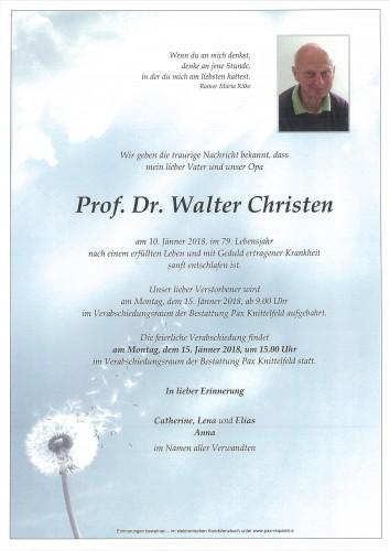 Prof. Dr. Walter Christen