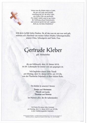 Gertrude Kleber