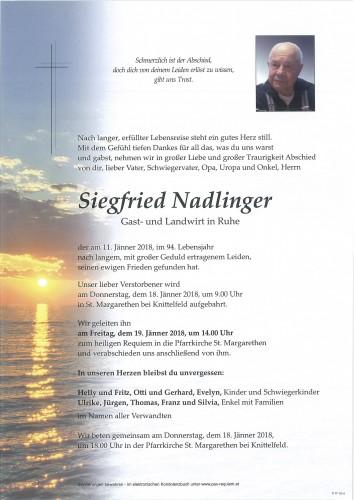 Siegfried Nadlinger