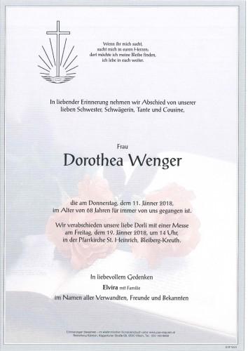 Dorothea Wenger