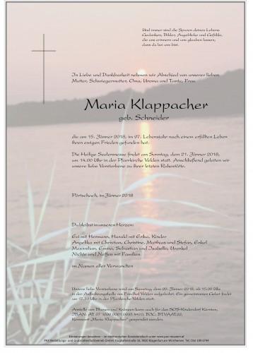 Maria Klappacher
