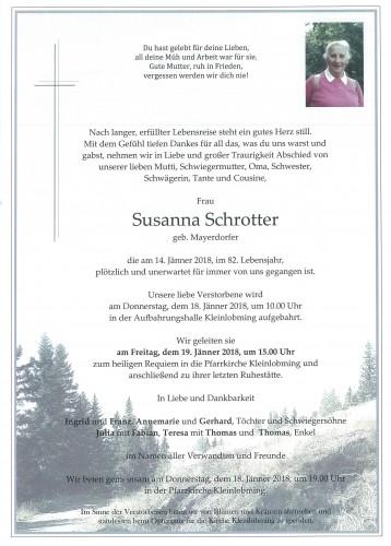 Susanna Schrotter geb. Mayerdorfer