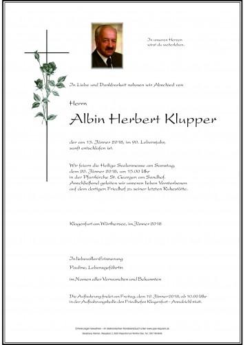Albin Herbert Klupper