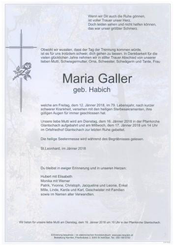 Maria Galler  geb. Habich