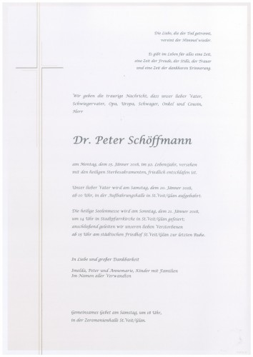 DR. Peter Schöffmann