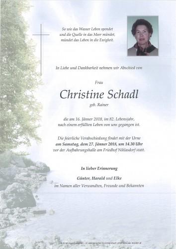 Christine Schadl