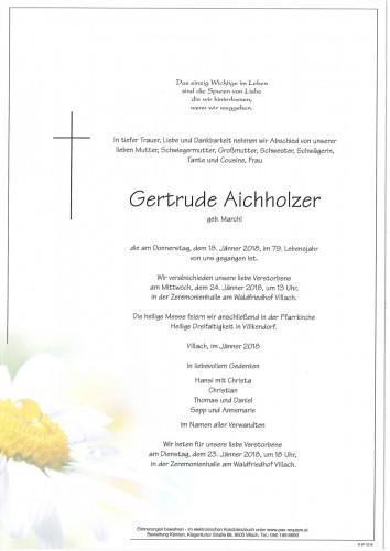 Gertrude Aichholzer geb. Marchl