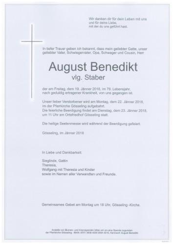August Benedikt  vlg. Staber
