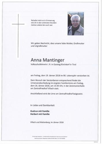 Anna Mantinger