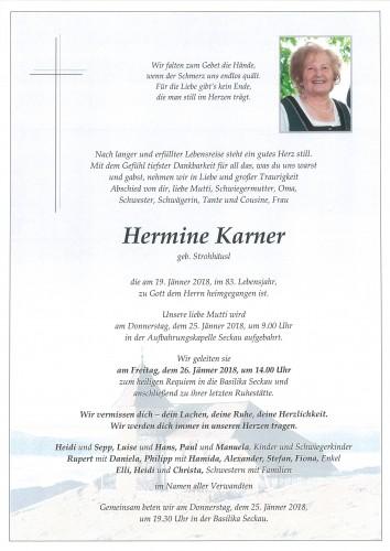 Hermine Karner, geb. Strohhäusl
