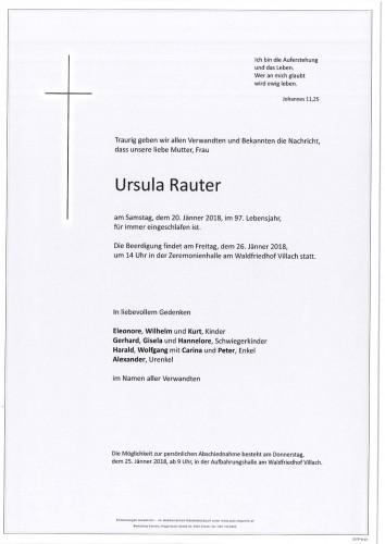 Ursula Rauter