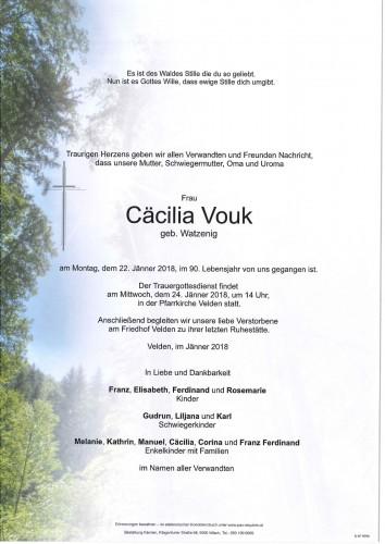 Cäcilia Vouk geb.Watzenig