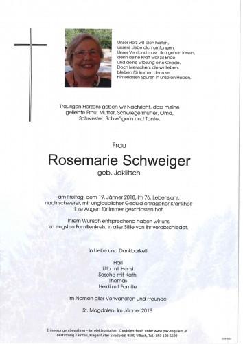 Rosemarie Schweiger geb. Jaklitsch