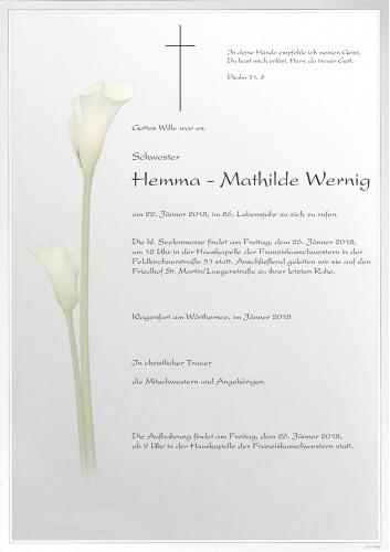 Schwester Hemma - Mathilde Wernig
