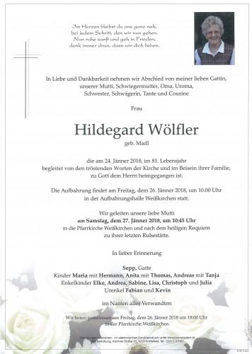 Hildegard Wölfler geb. Madl