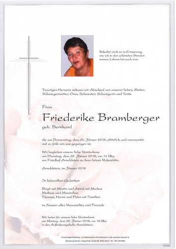 Friederike Bramberger geb. Bernhard