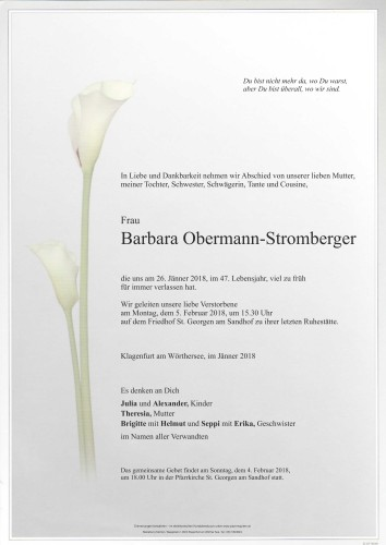 Barbara Obermann-Stromberger