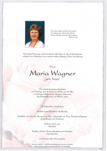 Maria Wagner geb. Kogoj