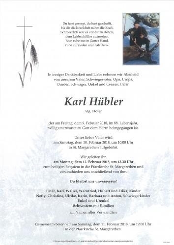 Karl Hübler, vlg. Hofer