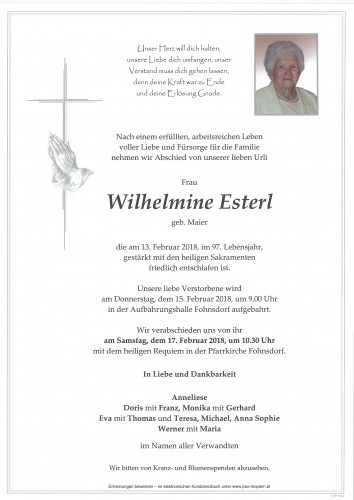 Wilhelmine Esterl