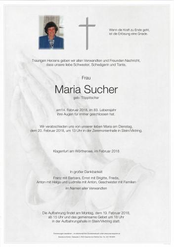 Maria Sucher, geb. Töppitscher