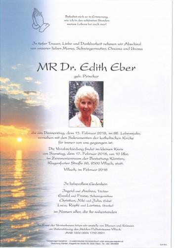 MR Dr. Edith Eber