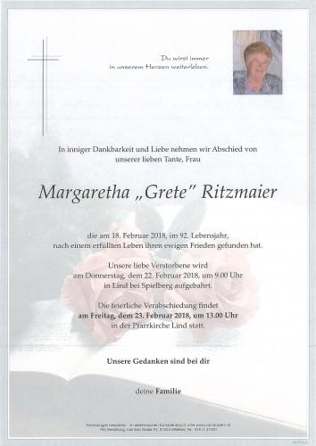 Margaretha Ritzmaier
